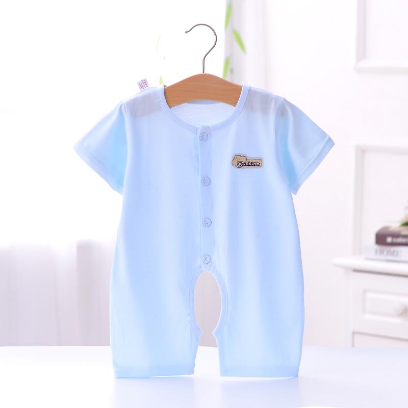 【全尺寸】夏季薄款婴幼儿纯棉短袖连体衣
