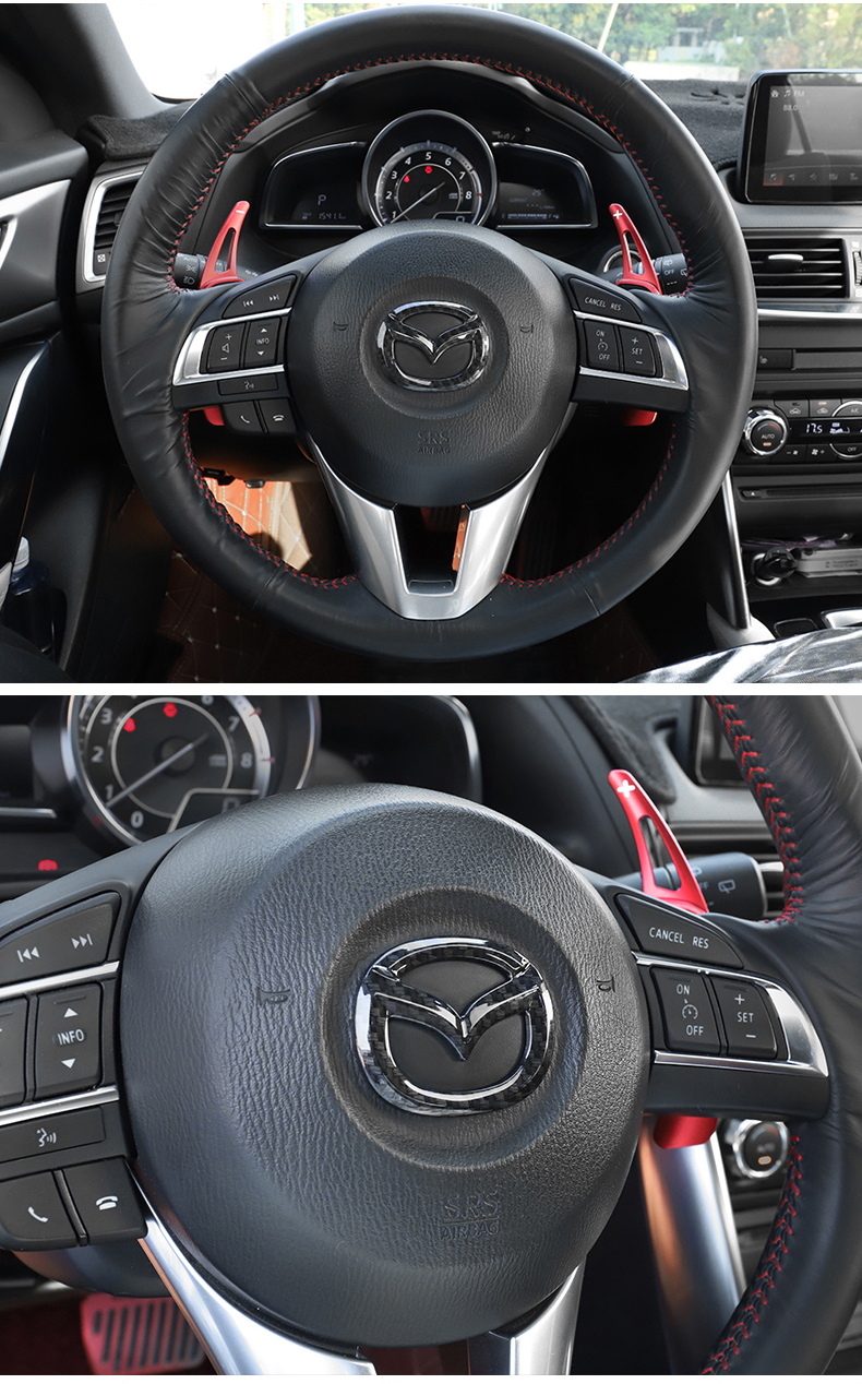 Ốp trang trí logo trên vô lăng xe Mazda CX-5 2018 - ảnh 17
