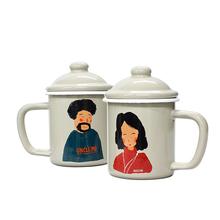 好看实用礼物推荐,木大叔加厚搪瓷杯带盖马克杯