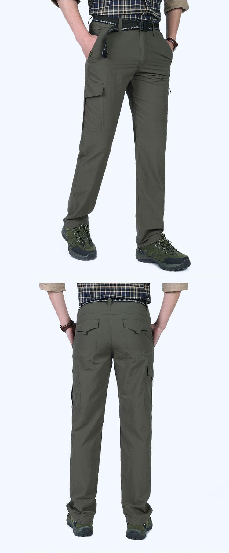 Jeep lá chắn quần âu nam màu quân sự ngoài trời đi bộ đường dài du lịch nhanh chóng làm khô quần nam overalls quần quân sự quần nam mỏng quần mới