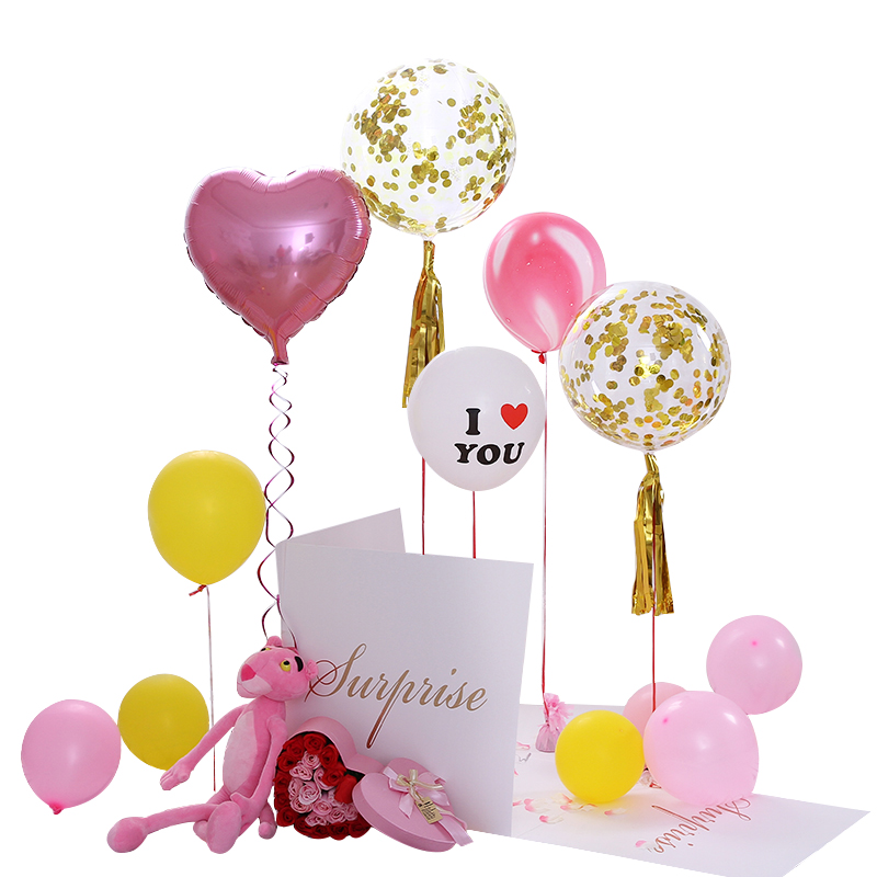 Confession Balloon Surprise Box Valentines Day To Send His Girlfriend Propose A Romantic Explosion