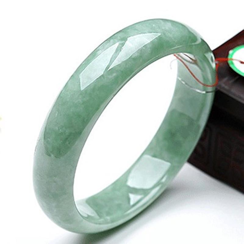 翡翠玉石玉镯缅甸证书玉手镯女款特价浅绿玉镯子天然包邮带正品