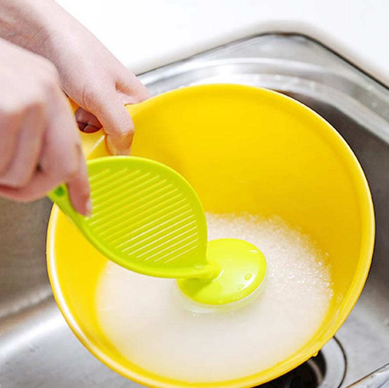 厨房淘米器不伤手家用塑料搅拌棒 多功能洗米器淘米勺洗米棒