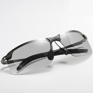 变色太阳镜男偏光墨镜夜视司机开车专用眼镜日夜两用钓鱼自动感光