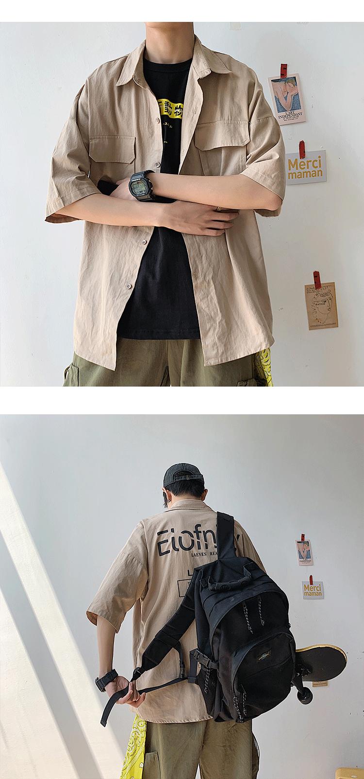 2020夏季 短袖工装衬衫衬衫 男士衬衣 A009-S609-P50(控价68)藏