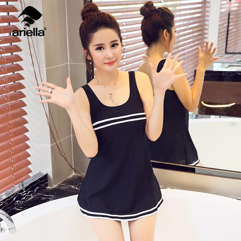 韩国泳衣女保守性感大小胸聚拢显瘦遮肚温泉度假爆款游泳装多件套