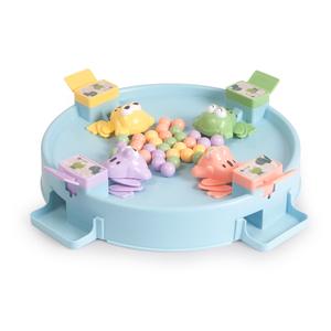 贝恩施小青蛙吃豆玩具 儿童双人吃豆豆亲子互动益智桌面游戏3-6岁
