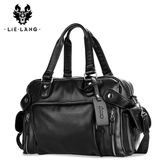 Travel bag men's mobile small travel bag handbag men's travel short trip leisure casual shoulder slung tote bag
