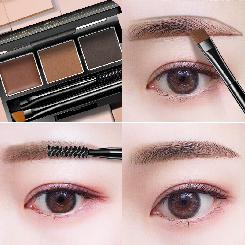 Kaizi blue Eyebrow Powder waterproof anti-sweat non-fade non-blooming long-lasting natural eyebrow pencil fog beginner genuine