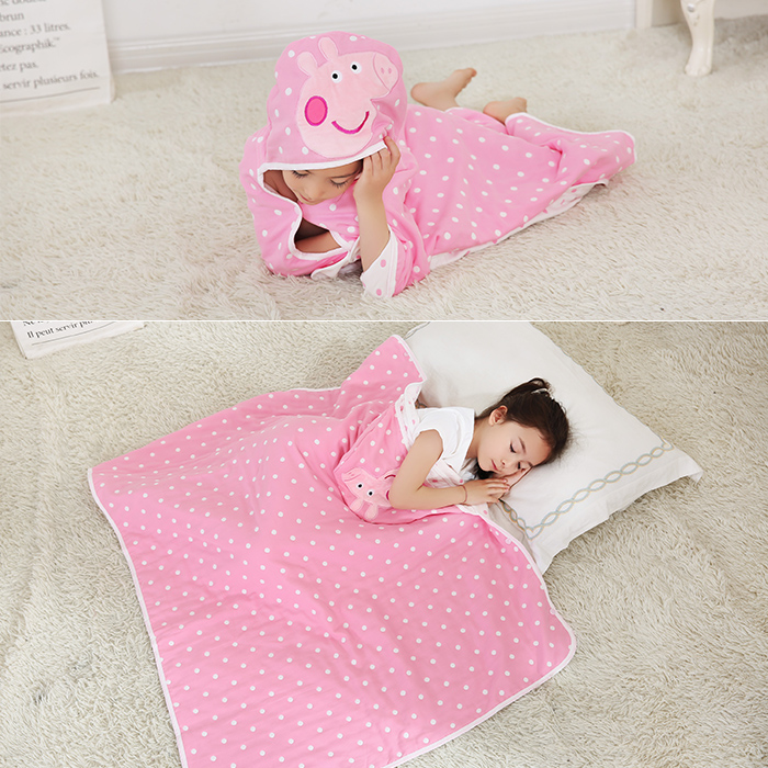 PIGLET MEDIUM SIZE COTTON GAUZE 6 LAYERS