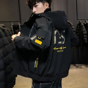 Пальто мужской 2019 новый весна корейская волна струиться зима популярный весна одежда весна механическая обработка мужской куртка