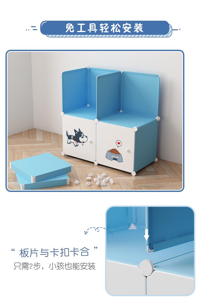 简易衣柜组装布艺单人小柜子卧室租房仿实木收纳挂塑料家用布衣橱详细照片