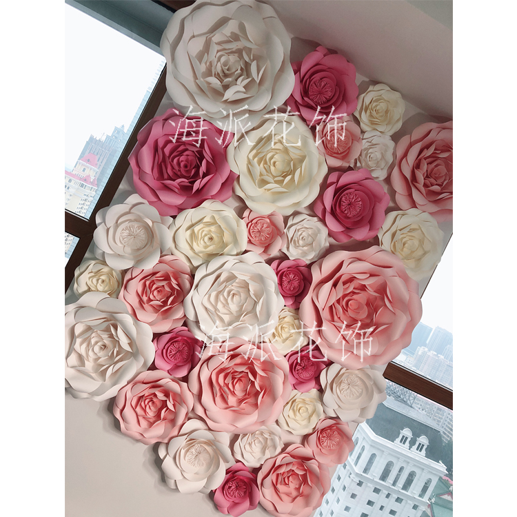 Usd 14893 large rose flower wall three dimensional handmade flower large rose flower wall three dimensional handmade flower wedding wedding photo studio background window stage mightylinksfo