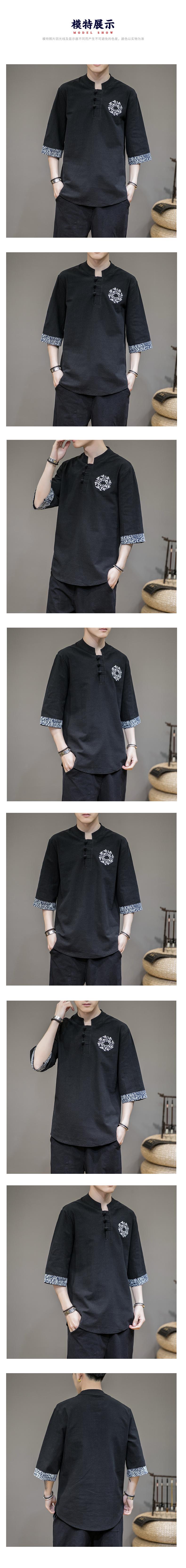 中国风刺绣短袖丅恤大码QT4039--HW006--P40