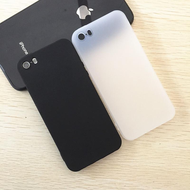 适用iPhone5S手机壳XR磨砂软SE苹果11手机壳6S简约7黑色透白8plus