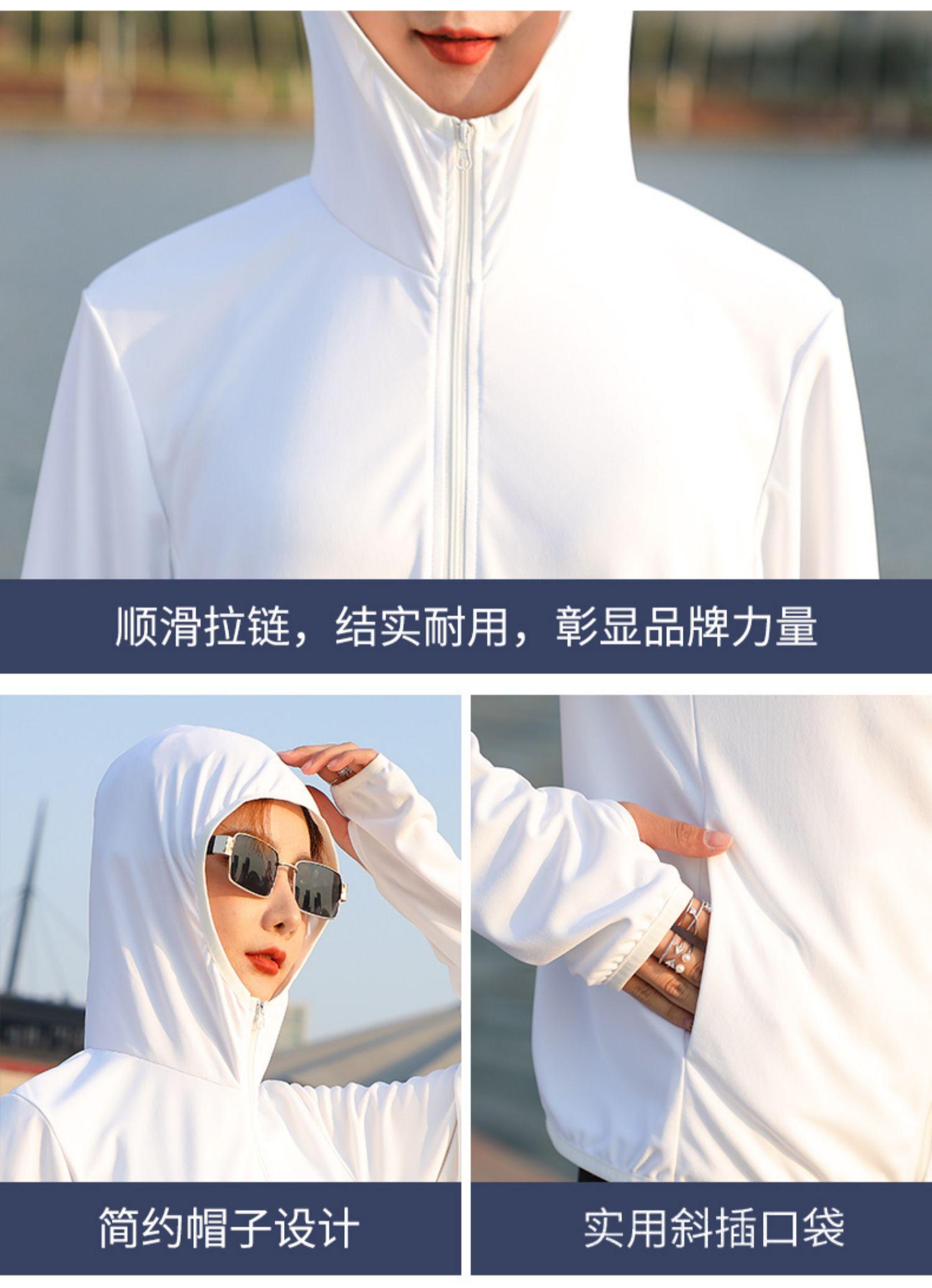 南极人冰丝防晒衣女2020夏新款宽松短外套长袖防晒衫薄透气防晒服商品详情图