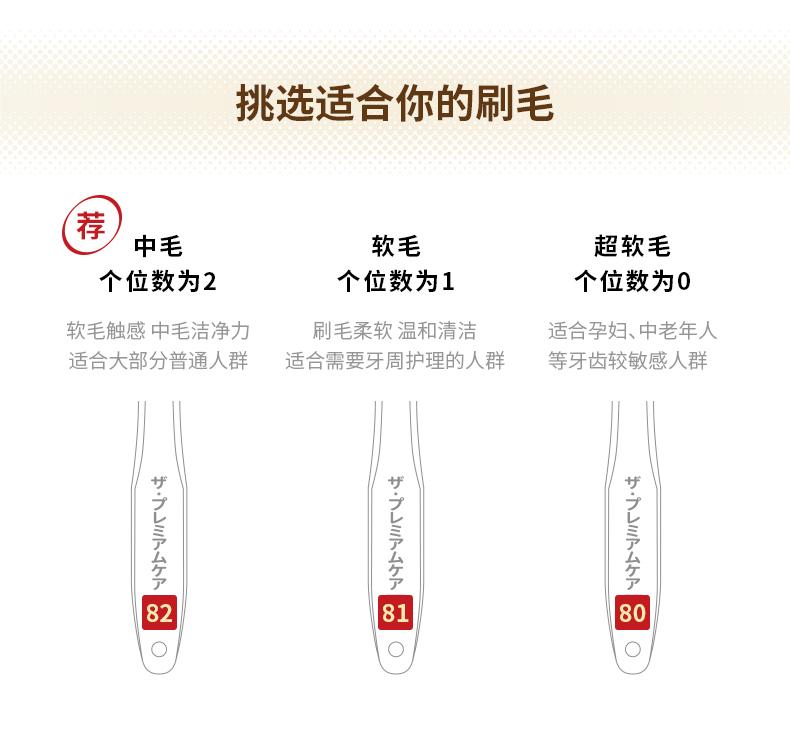 日本进口 EBISU 第2代升级款 65孔8列组合牙刷 三层植毛 4只 图11