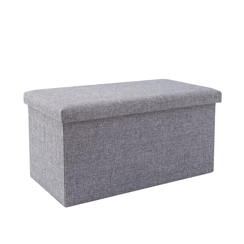 收纳凳子储物凳可坐成人换鞋凳多功能家用布艺沙发凳长方形收纳箱