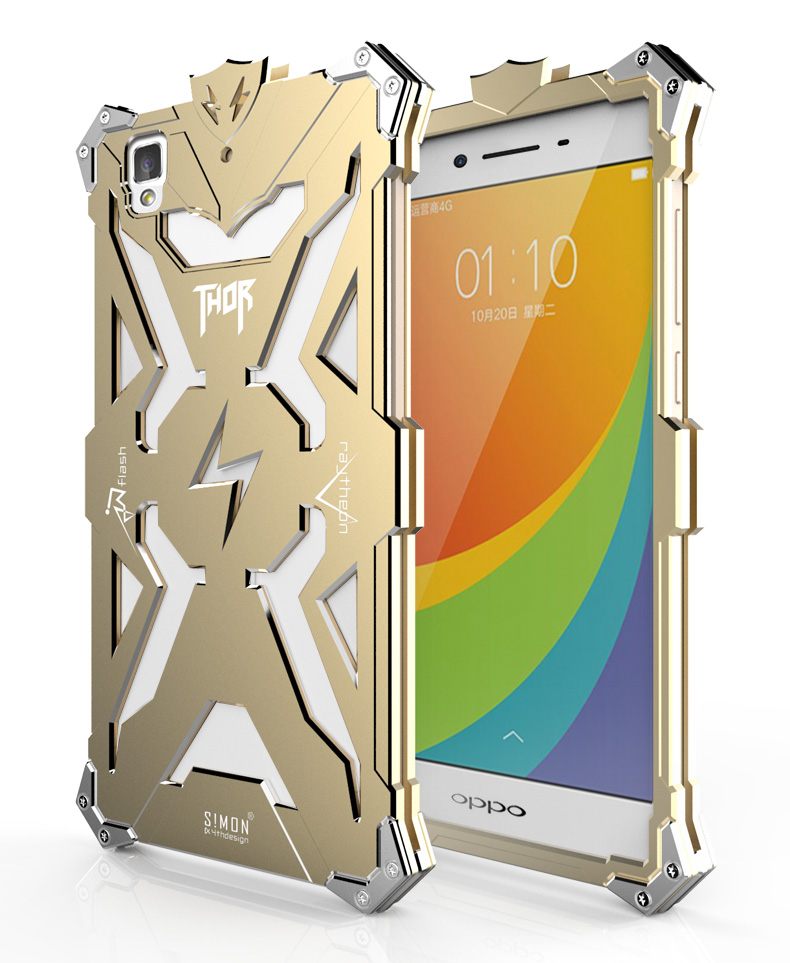 SIMON THOR Aviation Aluminum Alloy Shockproof Armor Metal Case Cover for OPPO A59 | OPPO A53 | OPPO A51