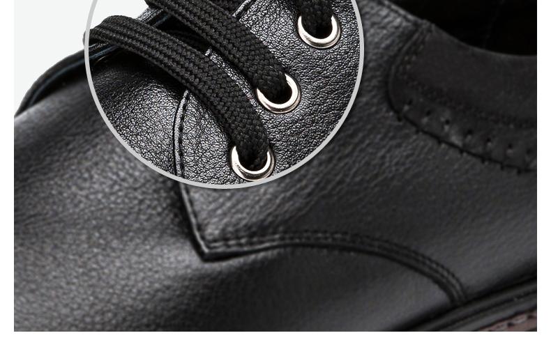 奥康皮鞋头层牛皮商务休闲皮鞋真皮男士单鞋休闲单鞋高清展示图 18