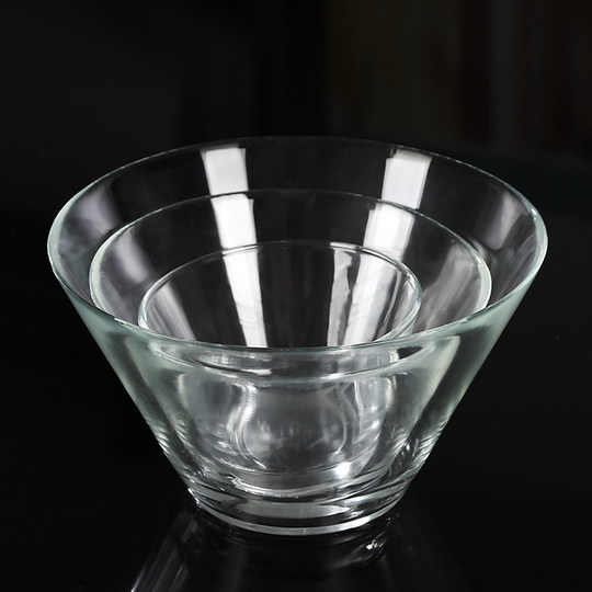 IKEA Glass Bowl Salad Bowl Chinese Transparent Fruit Vegetable Creative Color La Rice Bowl Hot Pot Bowl Japanese Microwave