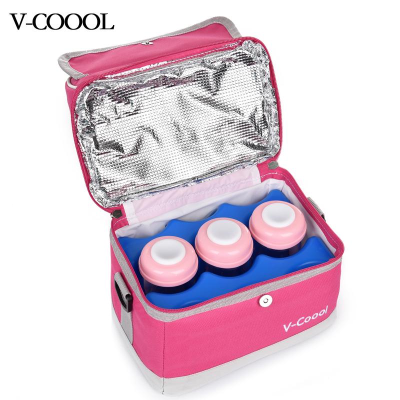V-COOOL母乳保鲜包宝妈便携户外单肩包多功能蓝冰冷藏储奶背奶包