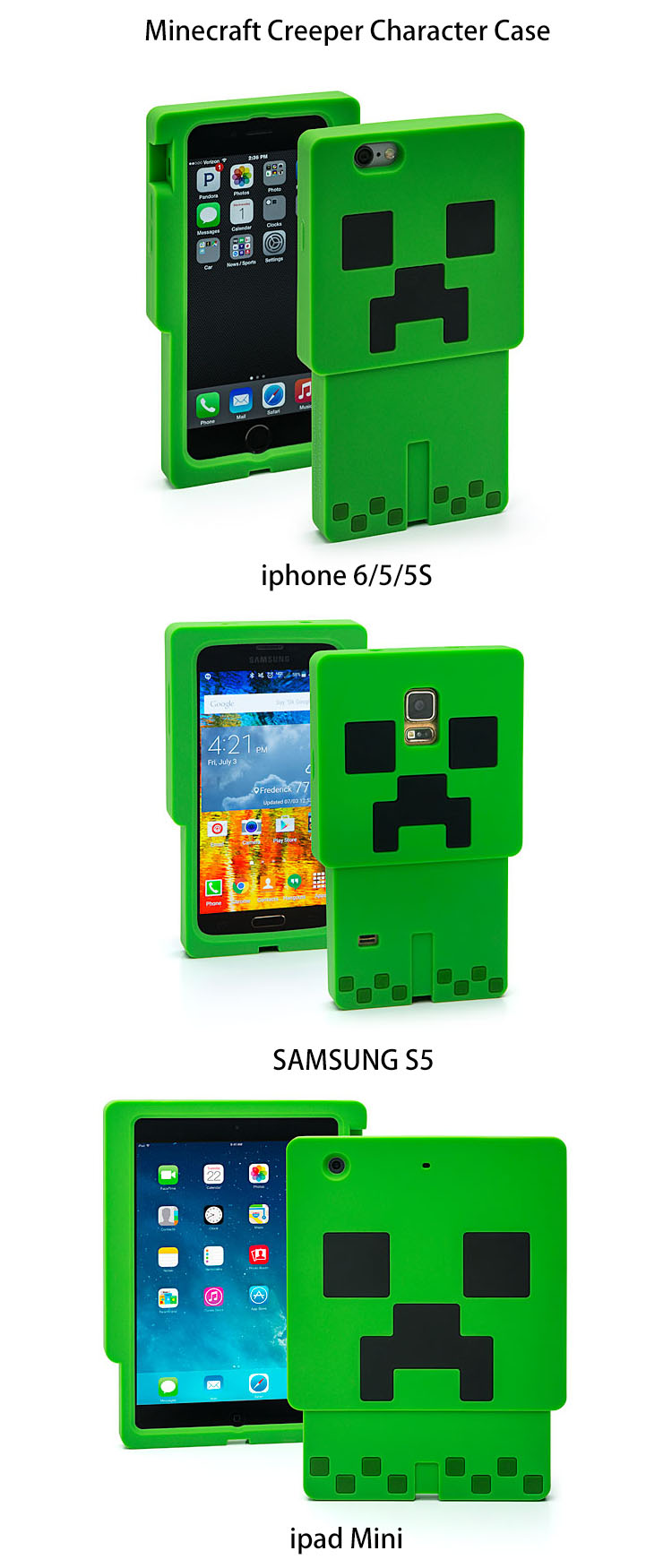minecraft iphone case minecraft iphone phone creeper wolf pig 3d silicone 12631