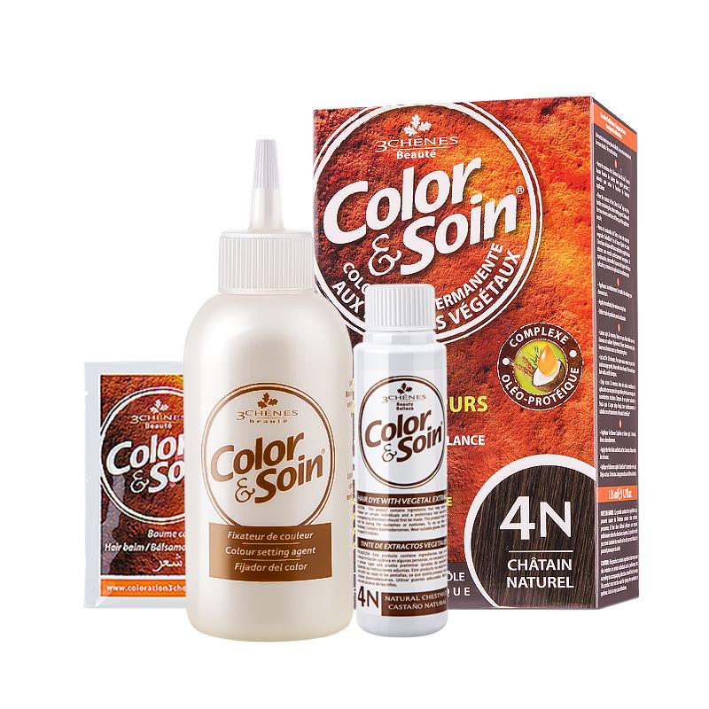 king哥推荐法国三橡树染发剂植物天然纯正品自己在家染发头发孕妇