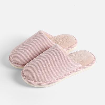 棉拖鞋女秋冬季情侣室内家用保暖防滑软底厚底家居地板棉拖鞋男士
