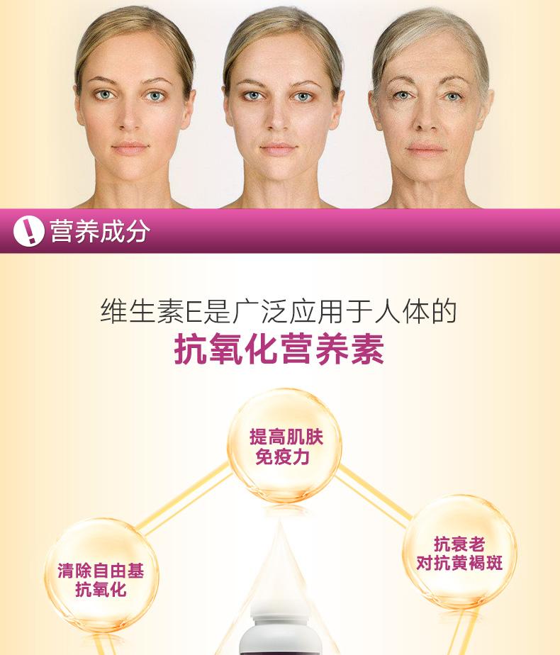 GNC健安喜天然维生素E软胶囊400IU*180粒美白淡斑延缓衰老 ¥128.00 营养产品 第3张