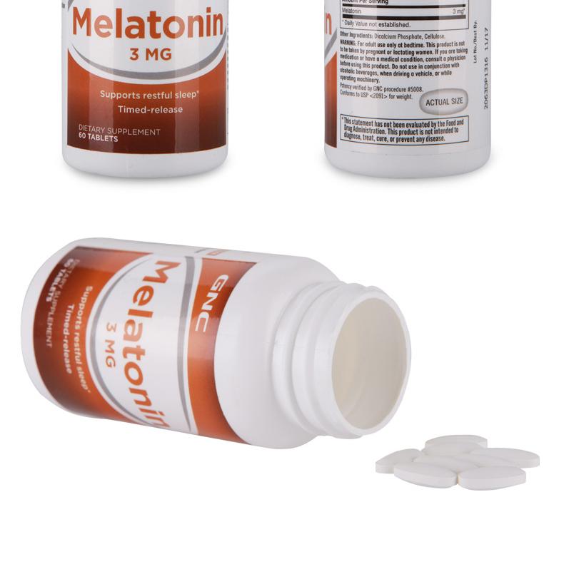 GNC健安喜melatonin褪黑素美国进口褪黑素片3mg*60片改善睡眠2瓶 ¥98.00 营养产品 第11张