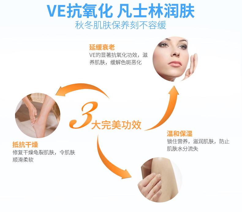 GNC/健安喜天然维生素E霜VE霜保湿滋润防皲裂3支装 营养产品 第4张
