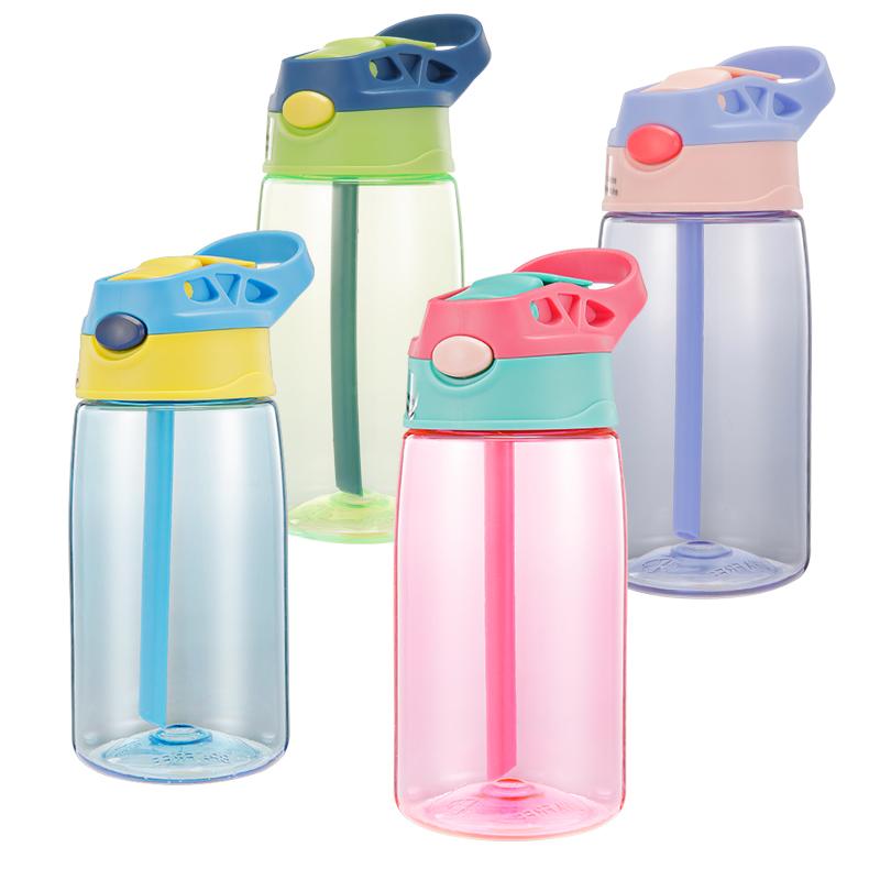 宝宝福利!儿童防摔水壶吸管水杯