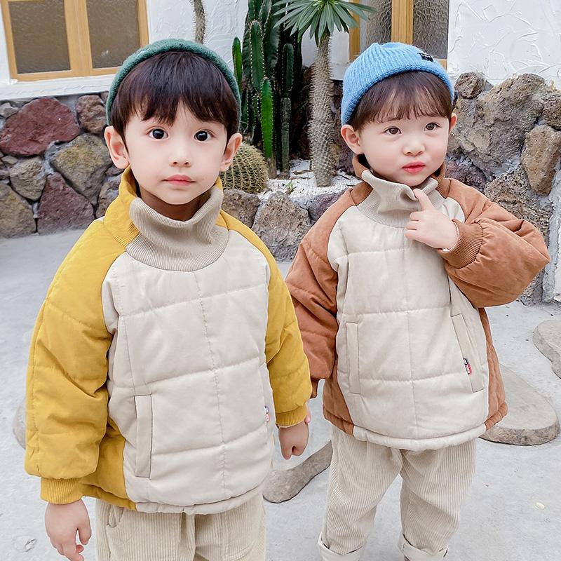 Lice儿童棉服男童冬季加绒厚女宝宝棉衣棉袄外套保暖韩版洋气潮流