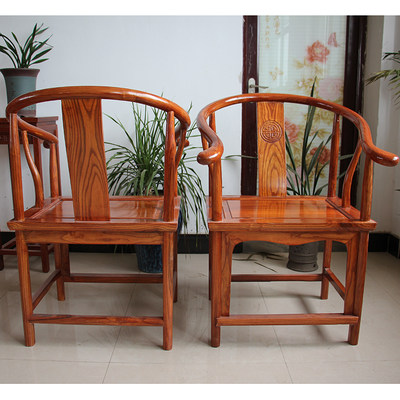 Modern Chinese solid wood chair solid wood tea table chair combination living room dining table and chair tea tag chair circle belt armrest