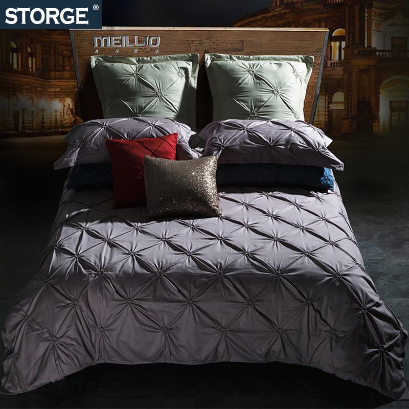 全棉纯棉四件套特种揪花工艺床单被套4件1.8m床双人2.0米床样板房【优惠价150元卖出262件】