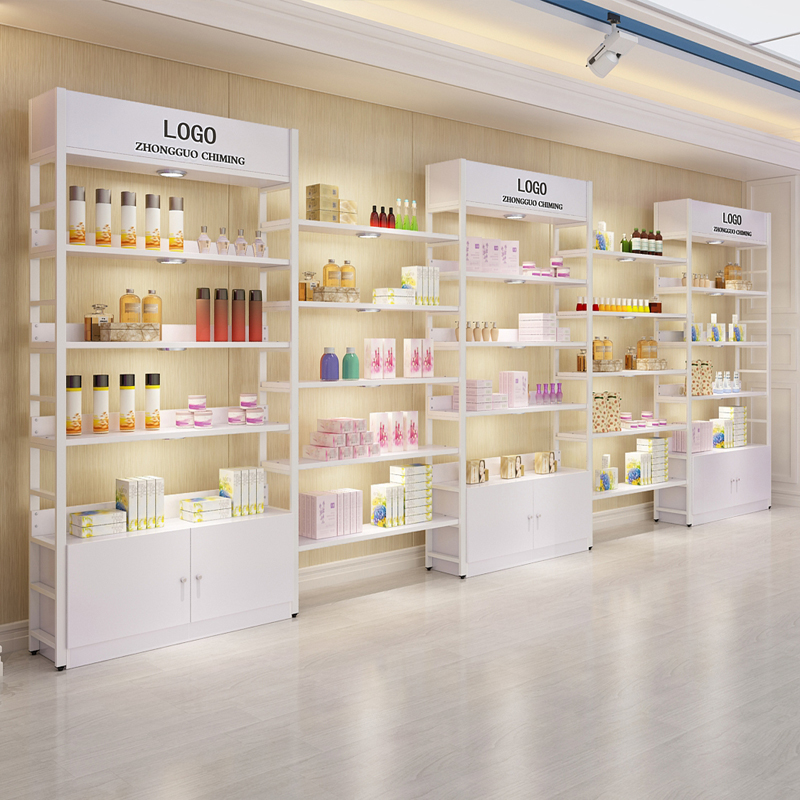Shelf Display Beauty Cosmetic Cabinet Display Cabinet Simple Modern Nail  Cabinets Supermarket Shelves Shoe Store Container