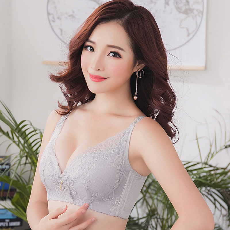 af20828b5f ... fat mm thin section gathered large size bra  Share. Anti-sagging big  chest was small full cup bra no steel ring thin underwear female