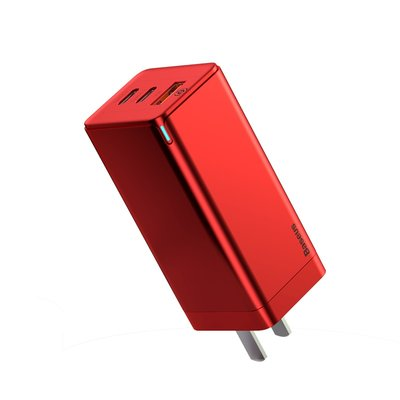 Xi Si 65W Gallium nitride charger set red Apple 11 fast charge iPad charging head GaN plug PD super fast charge OPPO flash high-meter laptop