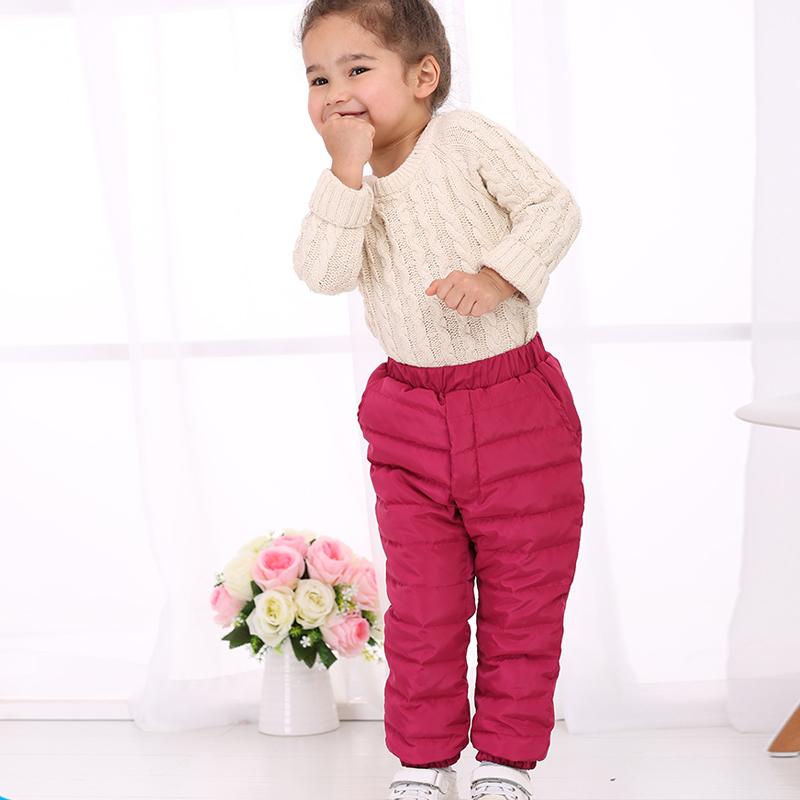反季促销儿童羽绒裤保暖加厚外穿男女宝宝小童羽绒裤冬裤90白鸭绒