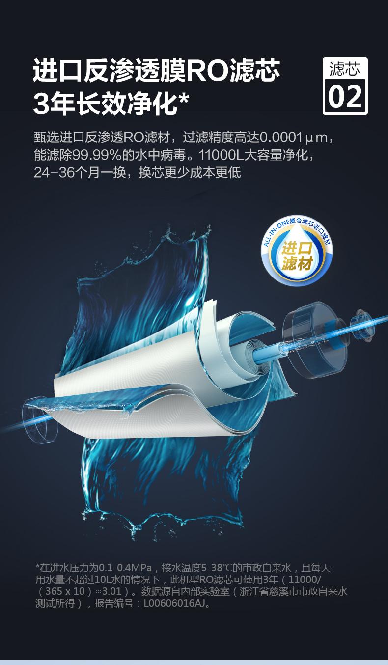 飞利浦 RO反渗透过滤纯水机 生活/纯净双出水 图5
