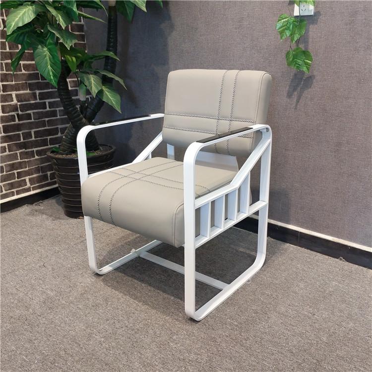 Серый Железное искусство белый Крашение кресла