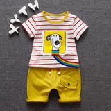 Детское Летнее платье комплект ребенок детские Годовалый одежд 0-1-2-3-4-5 на мальчика лето короткий рукав новая коллекция детские волна
