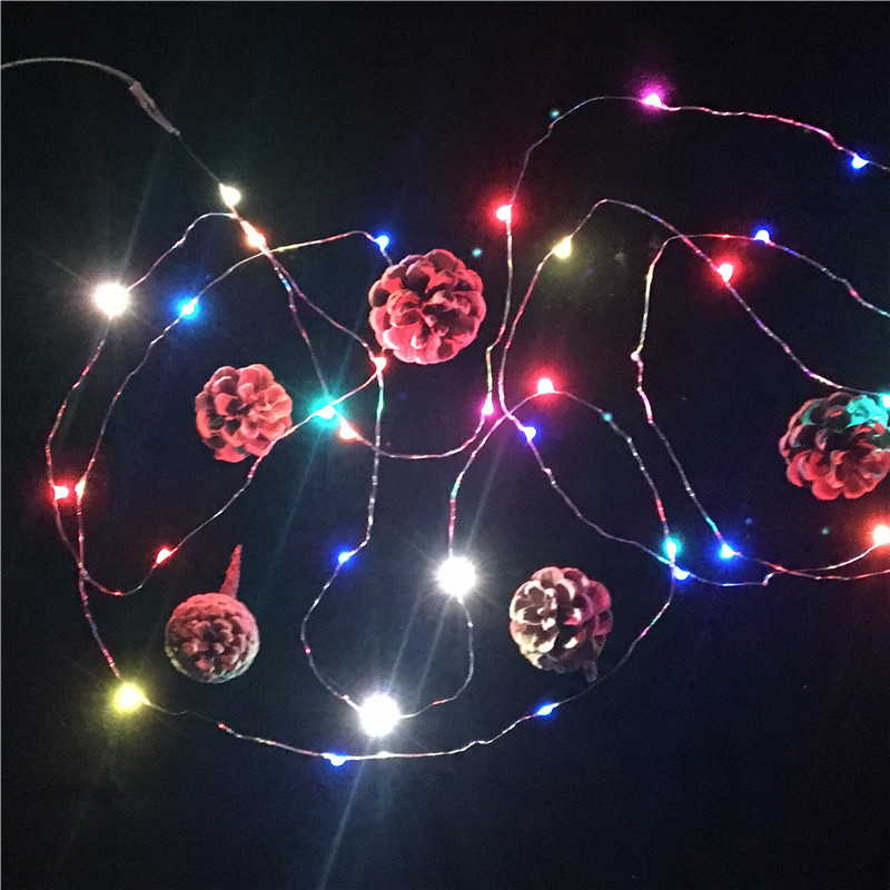 Colorful Discoloration Flash String Decorative Lights Led Copper Wire Stars Small Color Light Bulbs Front Gypsophila Star