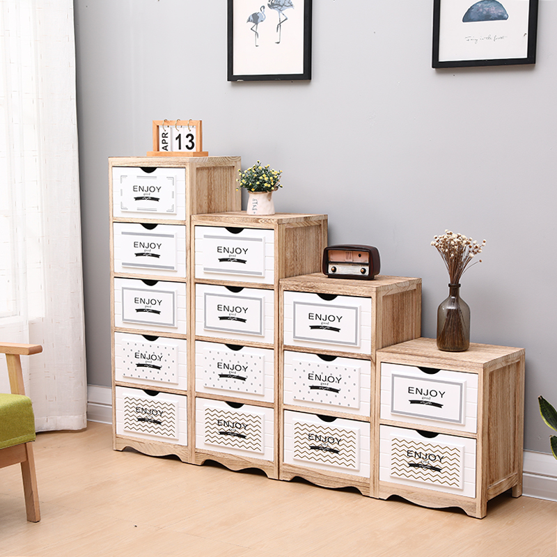 Nordic wood bedroom drawer storage cabinet storage drawers multilayer  finishing compositions living narrow corner cabinet shipping
