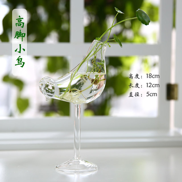 Creative home water culture glass vase transparent flower table decoration indoor gardening office table decoration