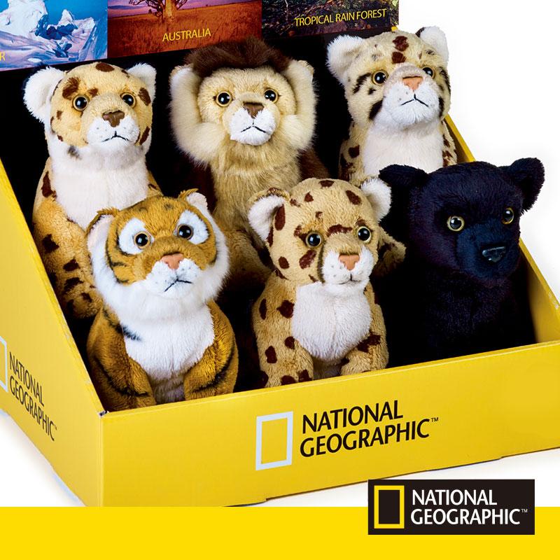 猫科国家地理黑豹动物毛绒玩具公仔小猎豹美洲豹狮子云豹老虎正品