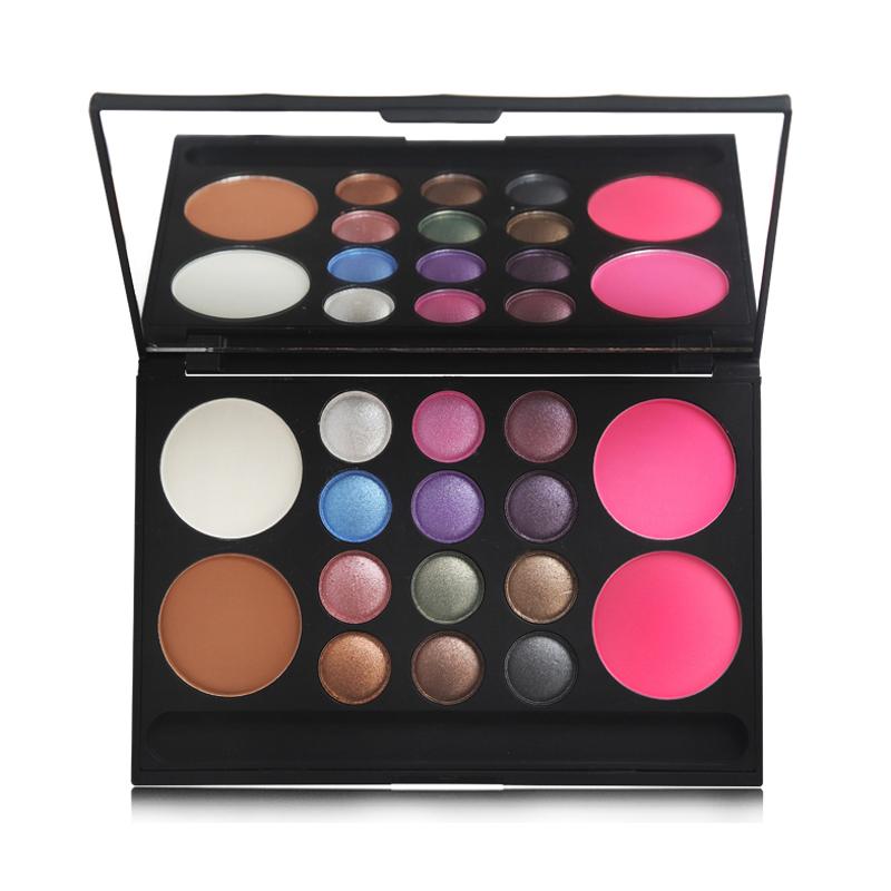 AIHUIJI时尚彩妆盒化妆盒彩妆盘修容腮红眼影彩妆盘