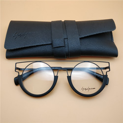 Yohji Yamamoto glasses 7017 trend personality hollow round myopia glasses frame for men and women