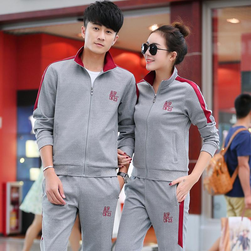 男士运动套装春秋冬季青年情侣女跑步运动服装长裤休闲卫衣两件套